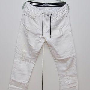Zara Ripped White Jean Pants